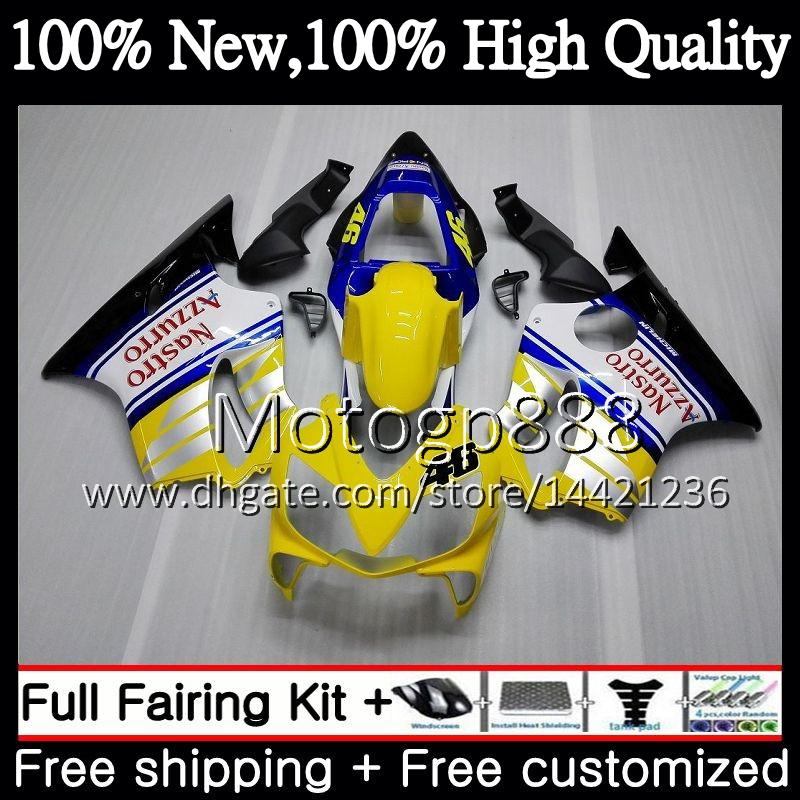 Body For HONDA CBR600FS CBR600F4i CBR600 F4i 01 02 03 43PG9 CBR 600F4i CBR600 FS Yellow white CBR 600 F4i 2001 2002 2003 Fairing Bodywork