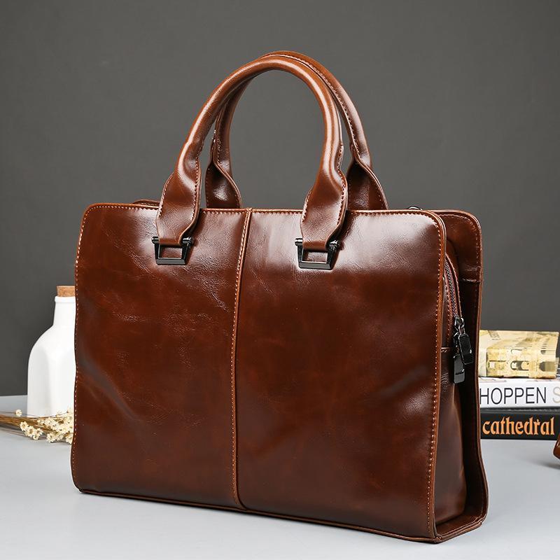 219a1864d638 CBJSHO Business Bag Briefcase Men Leather Messenger Bag Fashion ...