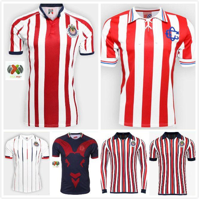 huge discount 6f152 eef61 sales 2018 Chivas de Guadalajara Third Jerseys World Cup Soccer Jerseys  Long Sleeve Kit 110 Year 2019 MEXICO Club A.PULIDO Football Shirts