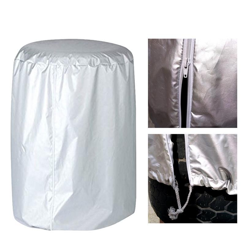 Watrproof Car Tire Cover Snow Tire Storage Bag Spare Cover Dustproof Bicycle Valve Garage Protector Case Wheel Covers
