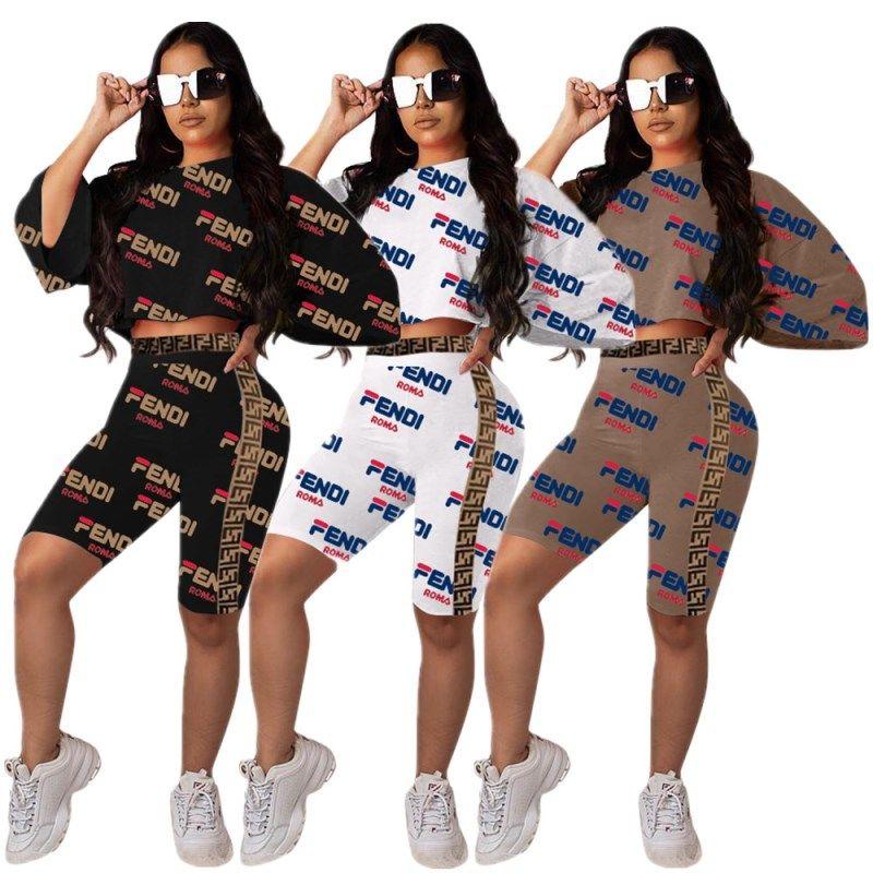 modischer Stil verschiedenes Design Einkaufen frauen designer trainingsanzug kurzarm outfits hoodie legging zweiteilig  dünne strumpfhose strumpfhosen sportanzug pullover hosen heiß KLW0803