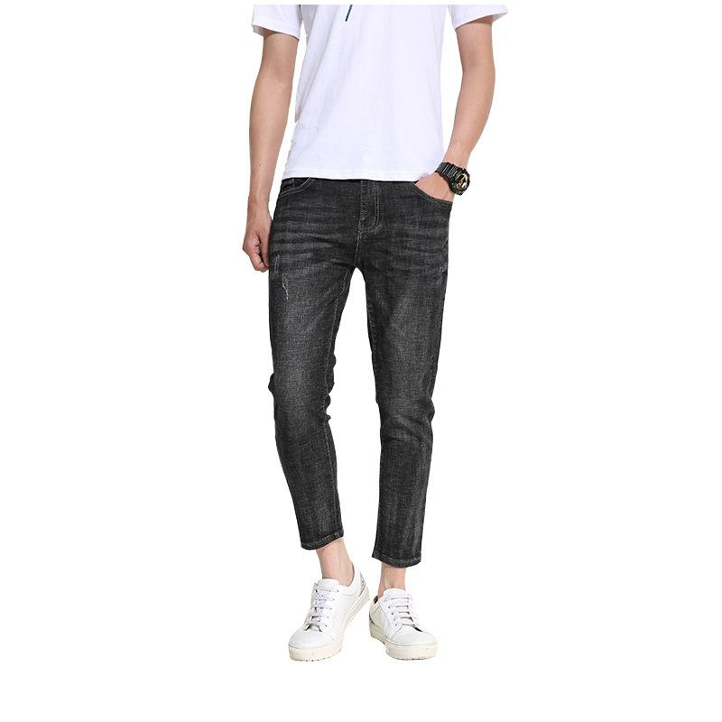 Jeans Men 2019 Spring and Autumn New Men's jeans Korean version of the Slim feet pants trend Casual Black more size 28-36