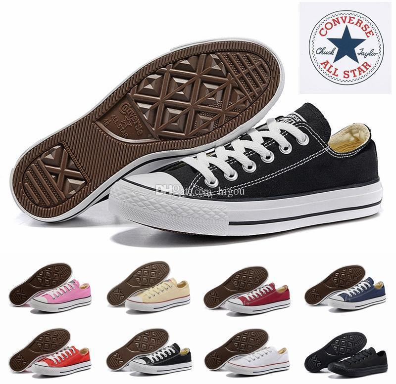 c6d4764d2a6e 2018 Converse Chuck All Star Core Casual Shoe Low Cut Classic Black White  Red Canvas Shoe Women Mens Skateboard Sneakers Formal Shoes For Men Work  Shoes ...