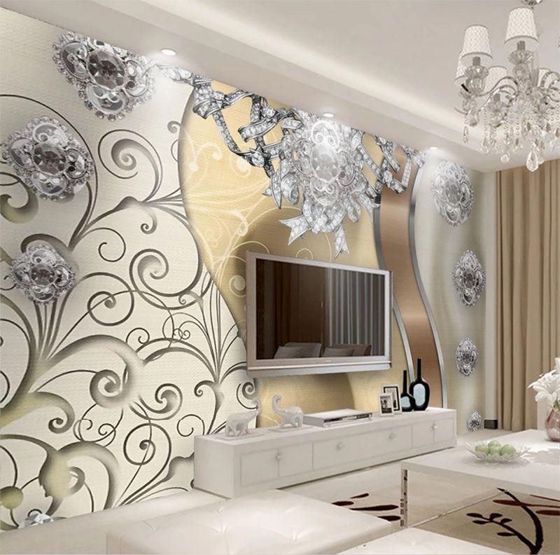 Compre papel tapiz mural 3d patr n simple papel tapiz 3d for Papel tapiz de patron para el pasillo