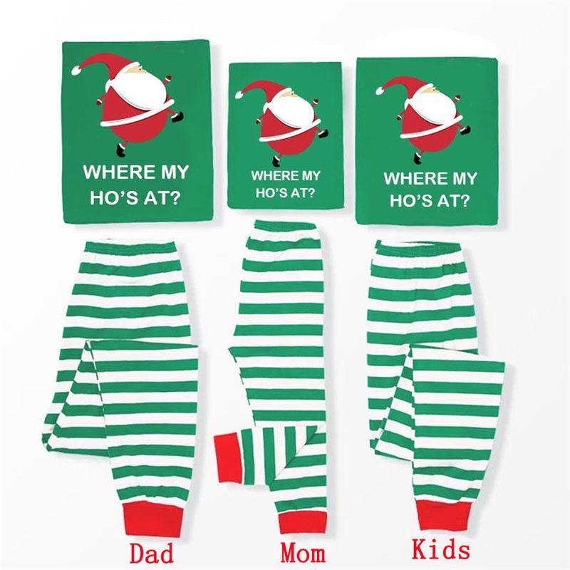 Giyim Noel Kadın Erkek Yetişkin Çocuk Santa Karikatür pijamalar Sevimli Homewear Parti Gecelik Eşleştirme Noel Aile Pijama Takımı