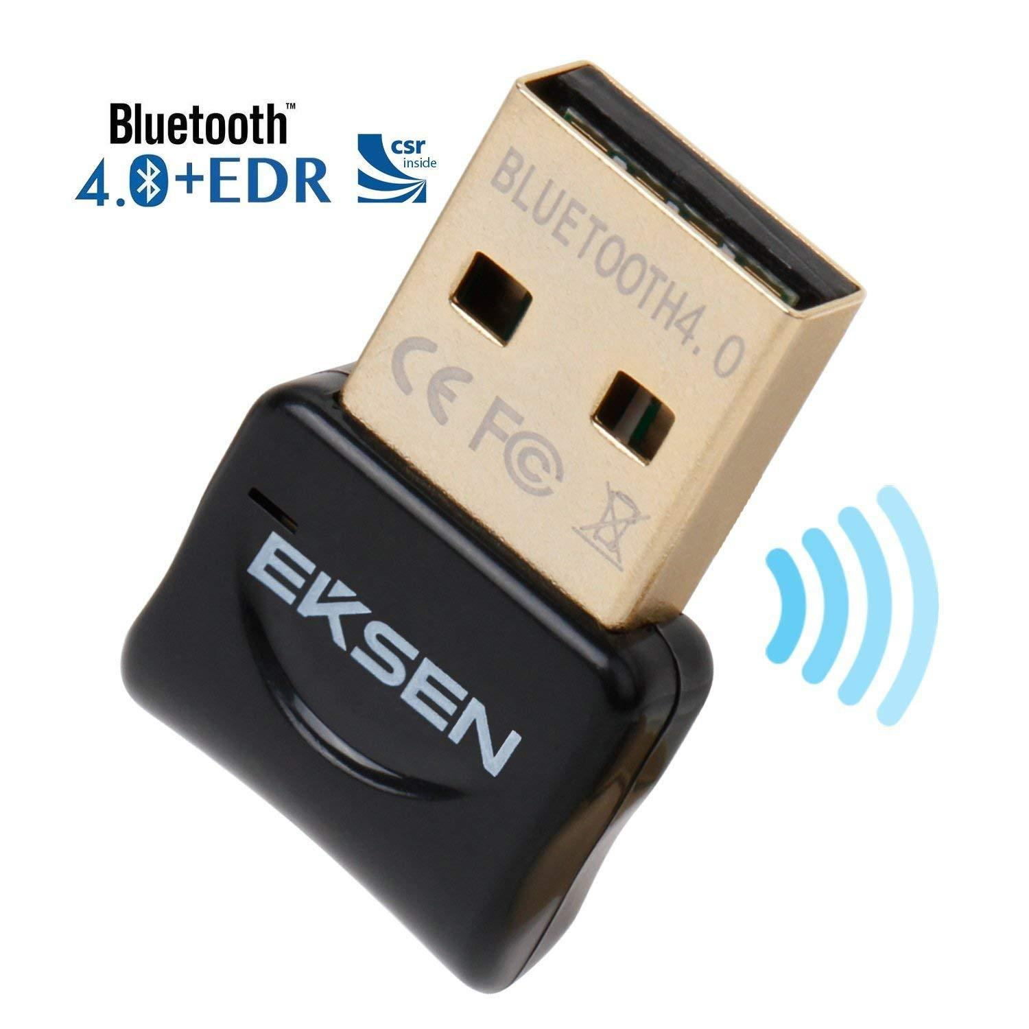 Bluetooth USB Dongle Adapter, EKSEN Bluetooth Transmitter and Receiver for  Windows 10 /8 / 7 / Vista - Plug and Play on Win 8 and Above