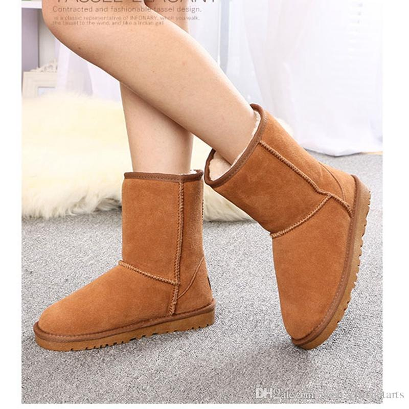 8527ca1387517 Kids Shoes Genuine Leather Snow Boots Women Shoes US4 13 Winter Footwear  Fashion Designer Boots Teenagers Shoes Girl Boots Size 13 Winter Boots For  Toddler ...