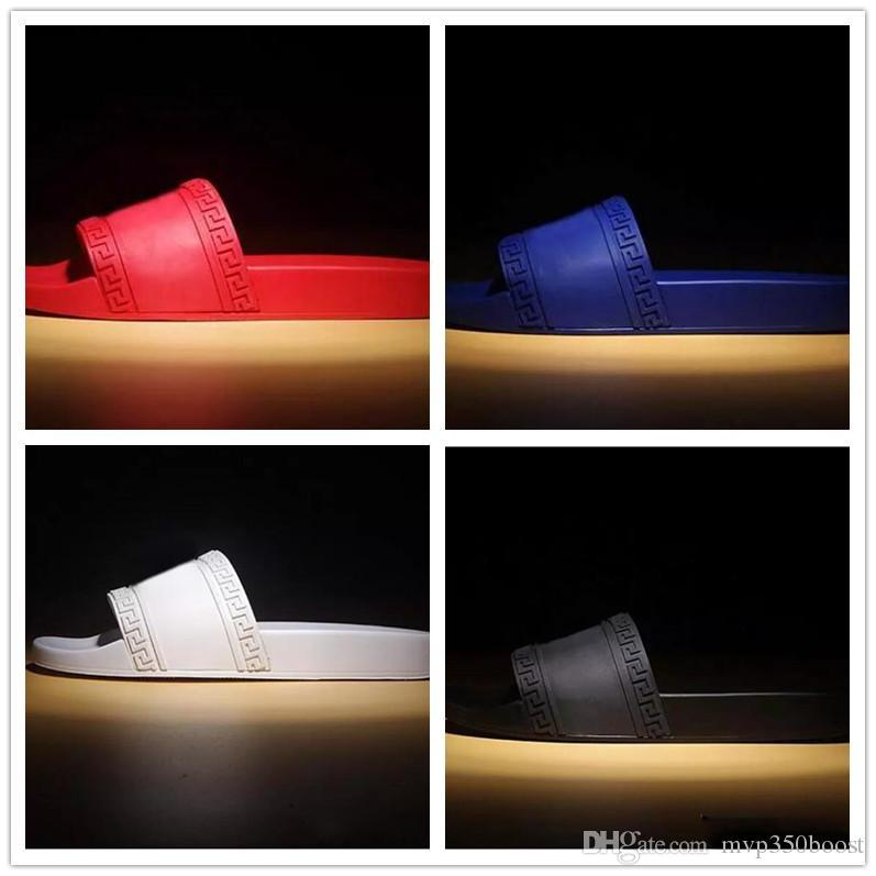 88dc62e485f NEW Europe Brand Fashion Men Striped Sandals Medusa Scuffs Causal Non Slip  Summer Huaraches Slippers Flip Flops Slipper BEST QUALITY US 7 12 Over The  Knee ...