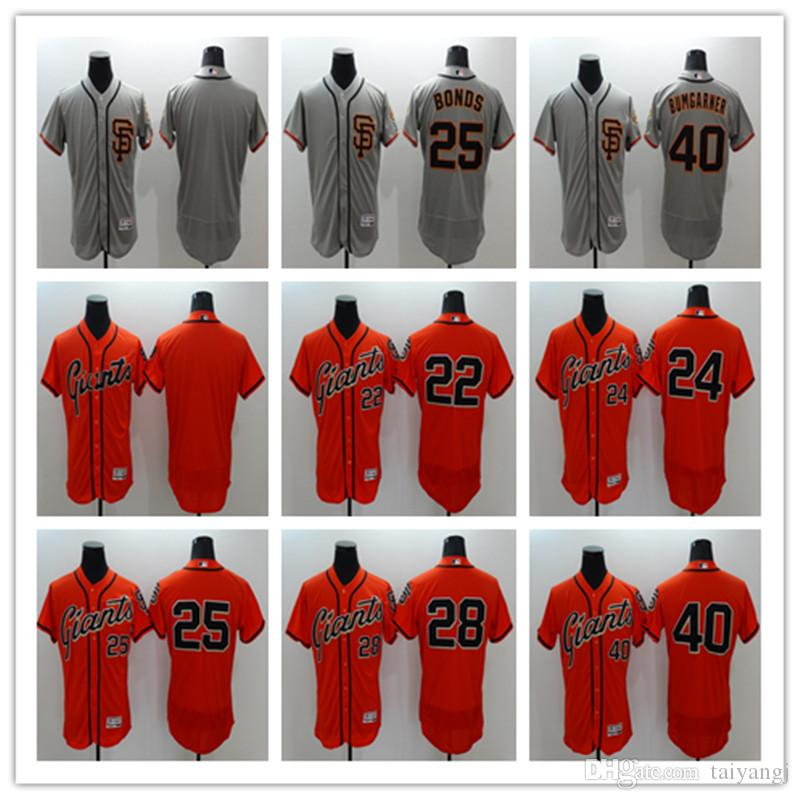 sale retailer 6daa9 609df New #28 Buster Posey San Francisco Giants Mens SF Black White Fashion Stars  Cream Orange Pull Down Gray Majestic MLB Baseball Jerseys