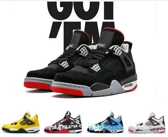 8d2fd9b3266f With Box New Bred 4 Iv 4s Flight Nostalgia Men Basketball Shoes ...