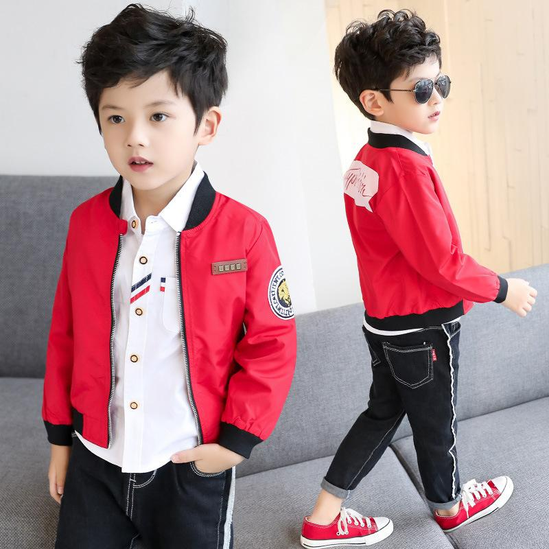 9216d5a026e0 2019 Spring And Summer New Fashion Label Jacket Boys Casual Zipper ...