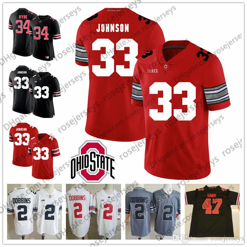 purchase cheap 3eaf0 5a01f 2019 Ohio State Buckeyes #33 Pete Johnson James Laurinaitis 34 Carlos Hyde  47 AJ Hawk 85 Mike Nugent Retired White Red Black Jersey