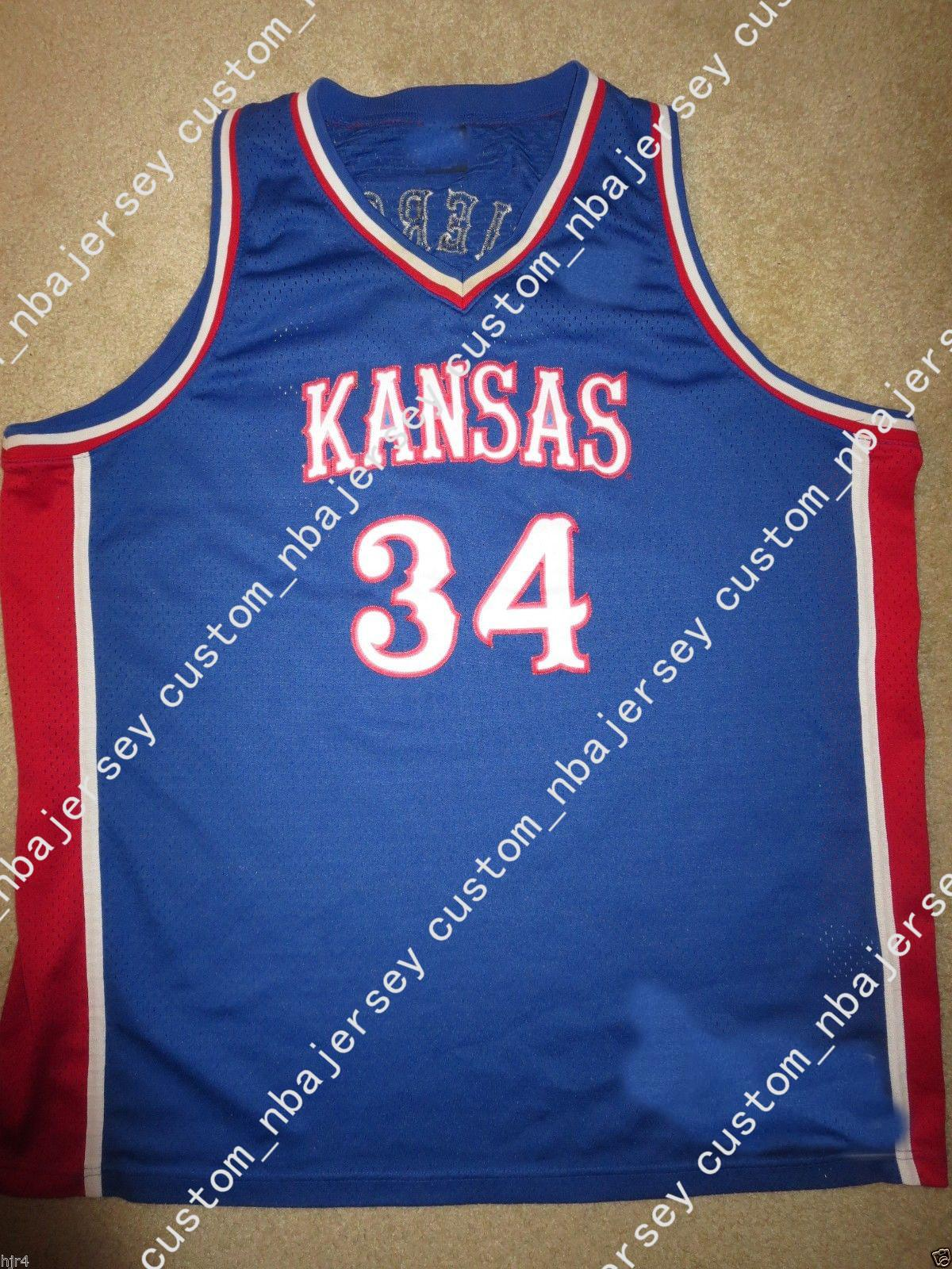 5bbb3e6e3b2 2019 Cheap Custom Paul Pierce #34 Kansas Jayhawks NCAA 1995 Rewind Jersey  Stitched Customize Any Number Name MEN WOMEN YOUTH XS 5XL From  Custom_nbajersey, ...