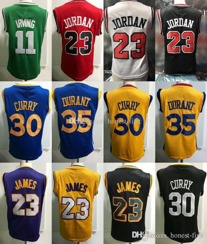 lowest price c0e81 d0c8a Basketball Toddler Kyrie Boston 11 Irving Chicago 23 Michael Stephen Golden  1 State 30 Curry 35 Durant Bryant Kevin LeBron Kobe James