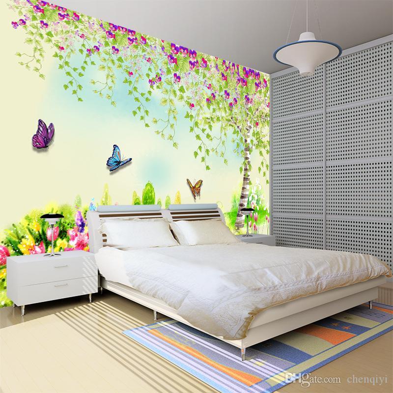 Grande 3D bump stereo verde natura paesaggio non tessuto murale carta da  parati camera da letto occhio-protezione carta da parati per bambini in ...