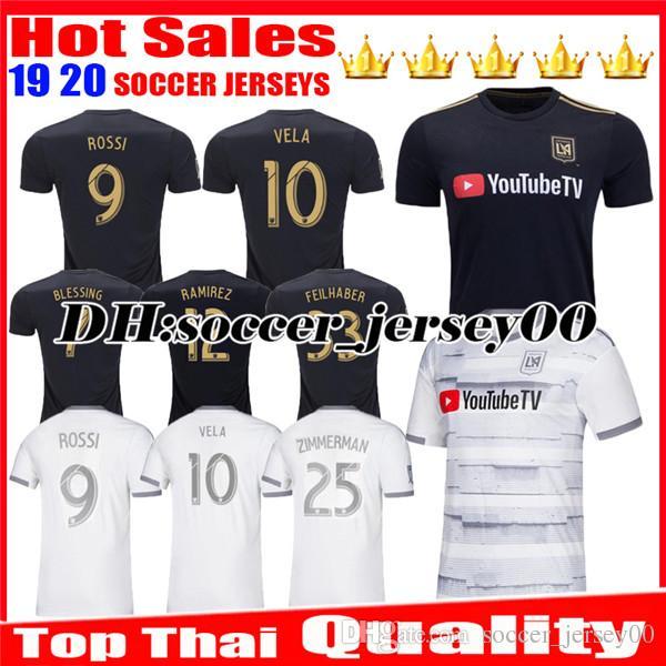 newest 43583 206ed 2019 2020 LAFC Carlos Vela Soccer Jersey 19 20 Home ZELAYA GABER ROSSI  CIMAN ZIMMERMAN Black Parley Primary WHITE jerseys Football Shirts