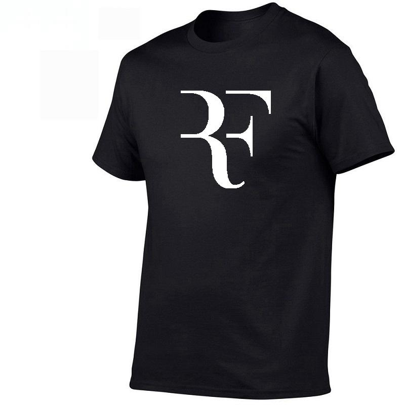 2019 New Roger Federer RF Men T Shirts Cotton O Neck Short Sleeves casual T shirts Mens Shirt Wholesale Top