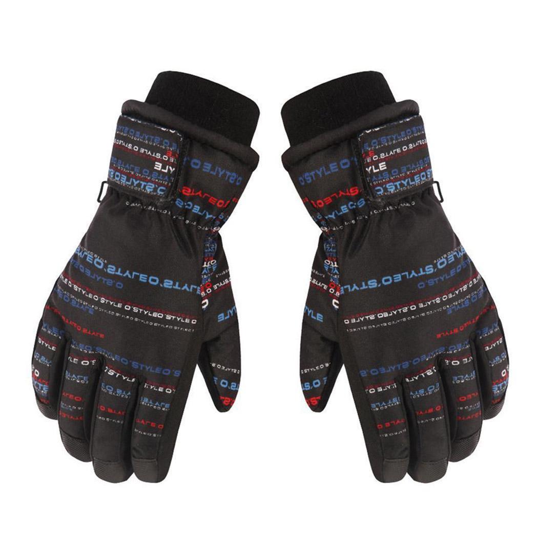 8d264d5a9 Boys Girls Outdoor Windproof Snow Ski Anti Slip Full Finger Gloves ...