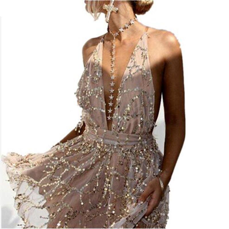 3b44d1b25cdd Ladies Deep V Sequin Tassel Sexy Blingbling Dress Women Backless Luxury  Lace Sexy Nightclub Club Party Women Mini Dress Vestidos Black Strapless  Dress White ...