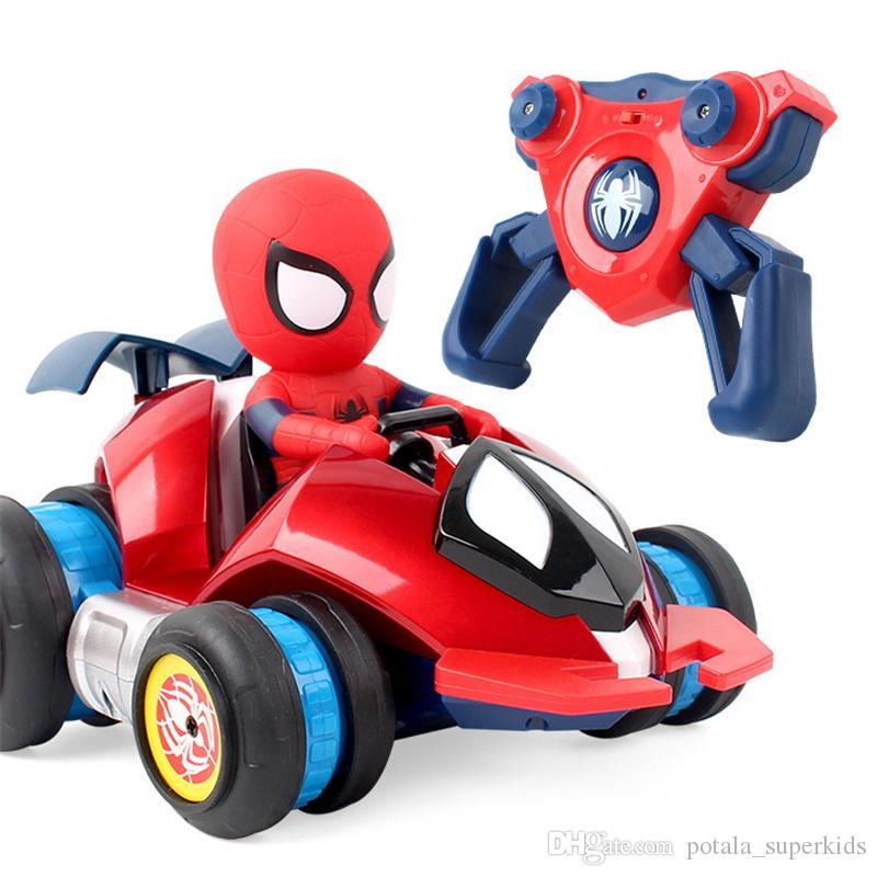 Drift Racing Spiderman Action Cadeau Ghz 360d Car Voiture 4 Marvel Vehicle 2 Figure Jouet Pour Télécommande Modèle Enfants Stunt Collection eED9WI2YH