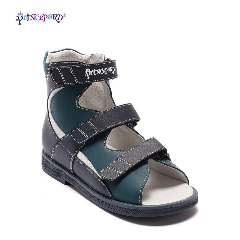 2416a84dcb Princepard Genuine Leather Boys Orthopedic Shoes Summer Navy Children  Sandals Kid Baby Sandals Baby Kids Boys Shoes Size 21 36 Childrens Sandels  Kids Sandle ...