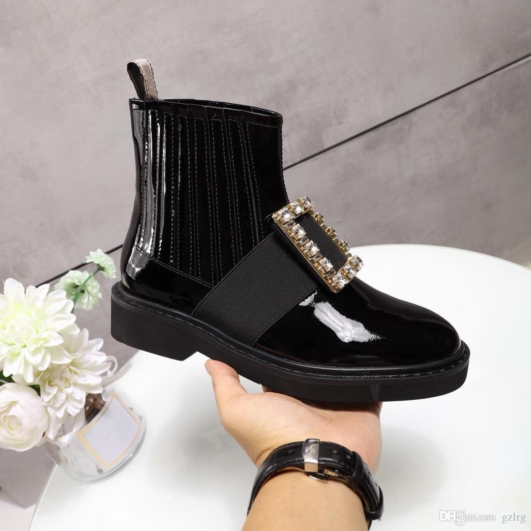 623b0052f0e Hot Women shoes Viv Rangers Metal Buckle Ankle Boots Designer Strass Buckle  Ankle Boot Luxury Shoes Womens Martin Boots