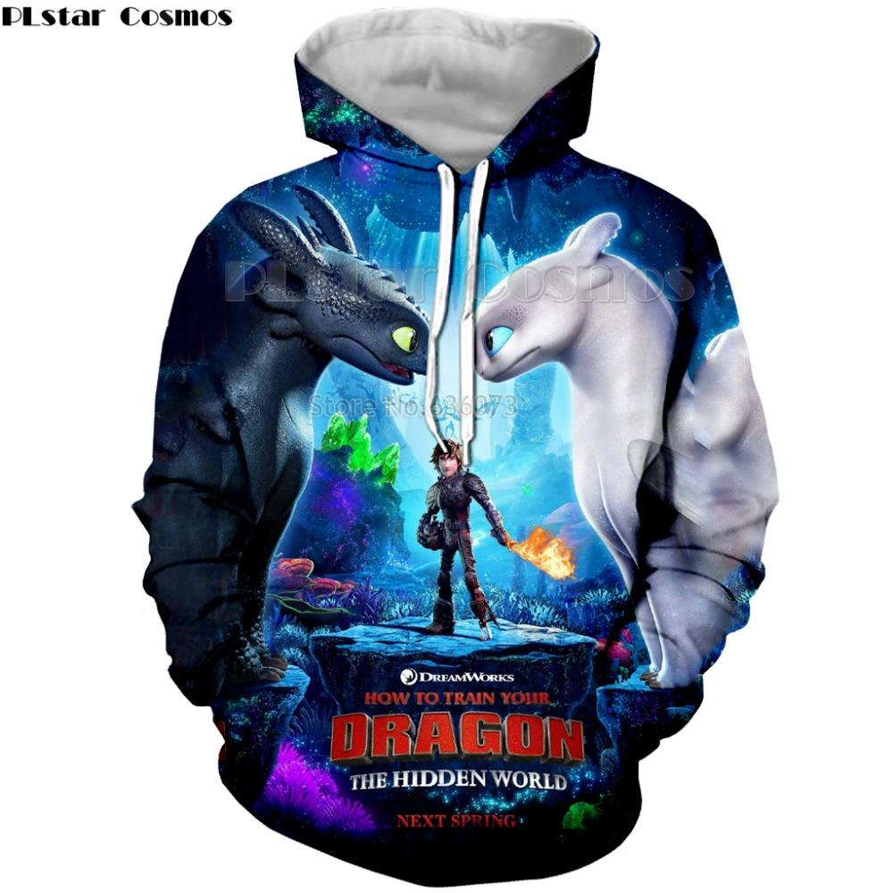 7552e9fa16a PLstar Cosmos 3D Print New Arrival How to Train Your Dragon Mens Printed  shirt Loose Pullover Womens Hoodie&Sweatshirts