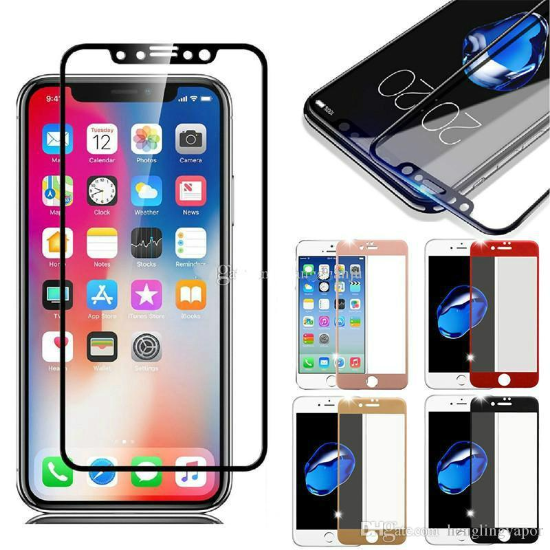 Tempered Glass 3D 9H Full Screen Cover Cell Phone Explosion-proof LCD  Screen Protector Film for iPhone XR XS MAX X 8 Plus 7 6 6s