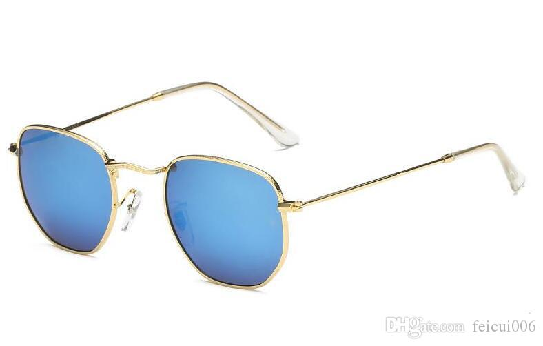 Color film lens 3548 sunglasses round metal design model sun Glass lenses for men women with case, cloth, grey box, all accessories!