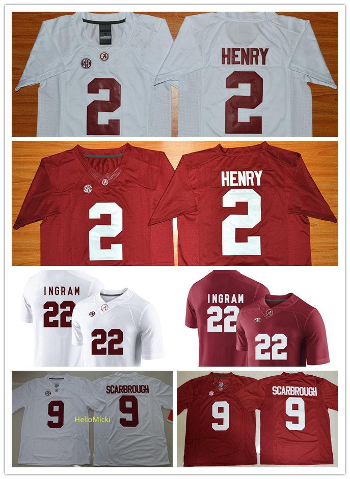 promo code 706fd 42f7d Mens NCAA #2 Derrick Henry Alabama Crimson Tide College Football Jerseys #9  Bo Scarbrough #22 Mark Ingram Jerseys S-3XL