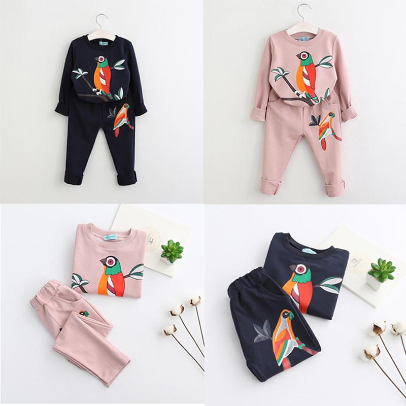 7b4621032 2019 Long Sleeve Top Shirt Pants Suit Kids Clothes Children Girls Boys  Print Bird Clothes Set Clothing Spring Toddler Clothing Sets From Humom, ...