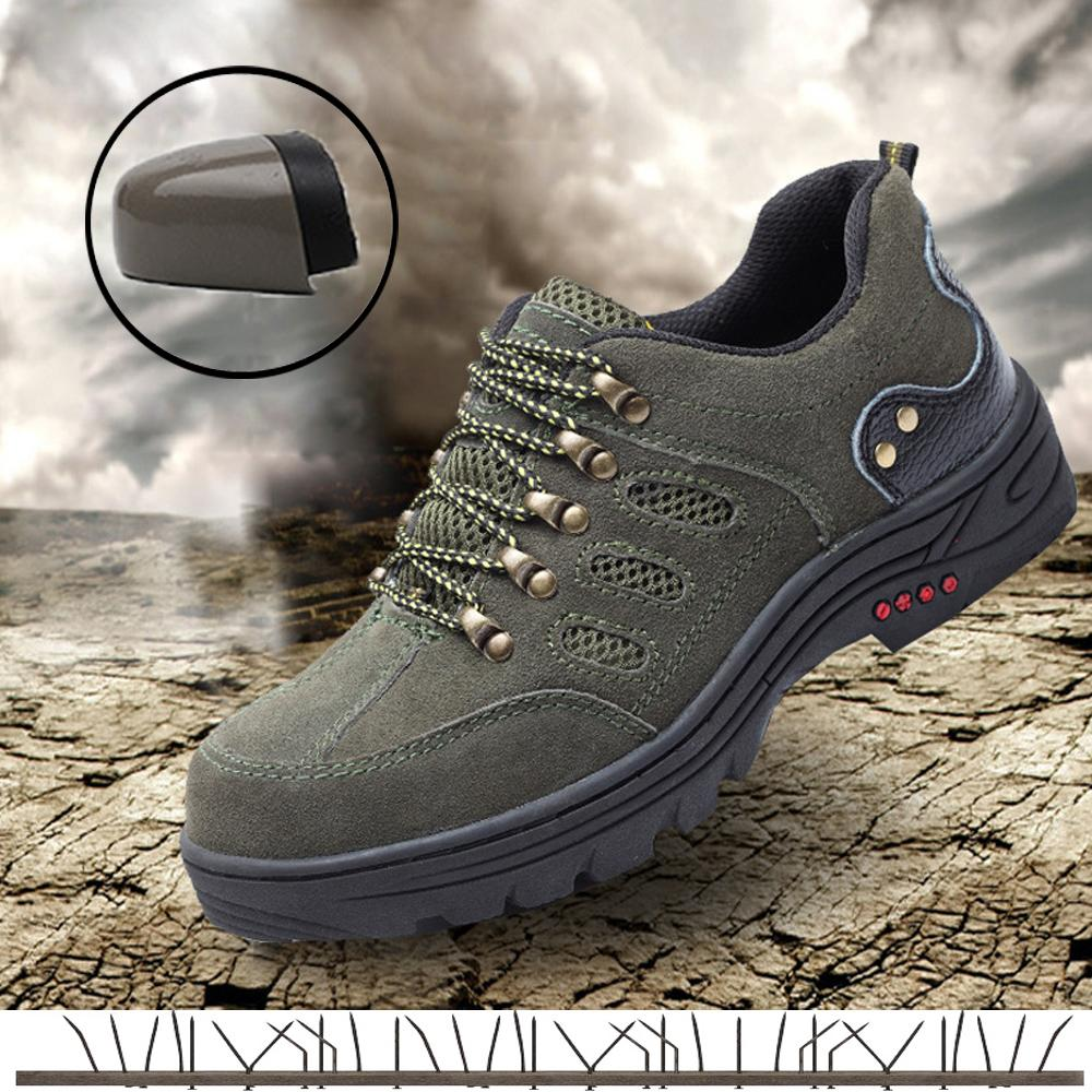 674a6692f08 Men s safety shoes Steel Toe Cap Working Shoes Men Outdoor Boots Breathable  sports indestructible Sneakers hiking for man