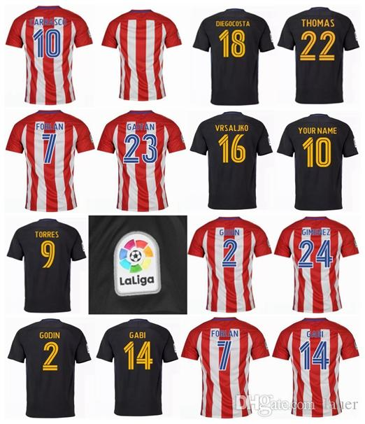 339be60bdb2 2019 Madrid Atletico Top Champions League Soccer Jerseys GRIEZMANN 2016 2017  Godin Koke Gabi Jota Gameiro Gaitan 16 17 18 Third FOOTBALL SHIRT From  Lauer