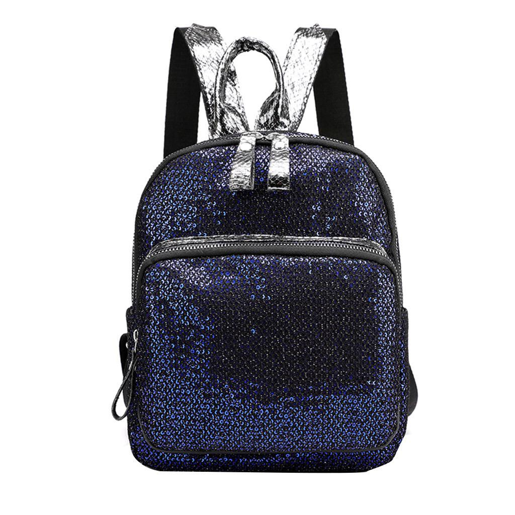 CONEED Bling Sequines Women Mini Fashion Rucksack Female Student High Quality School Bags Zipper Design Women Backpack 19APR20