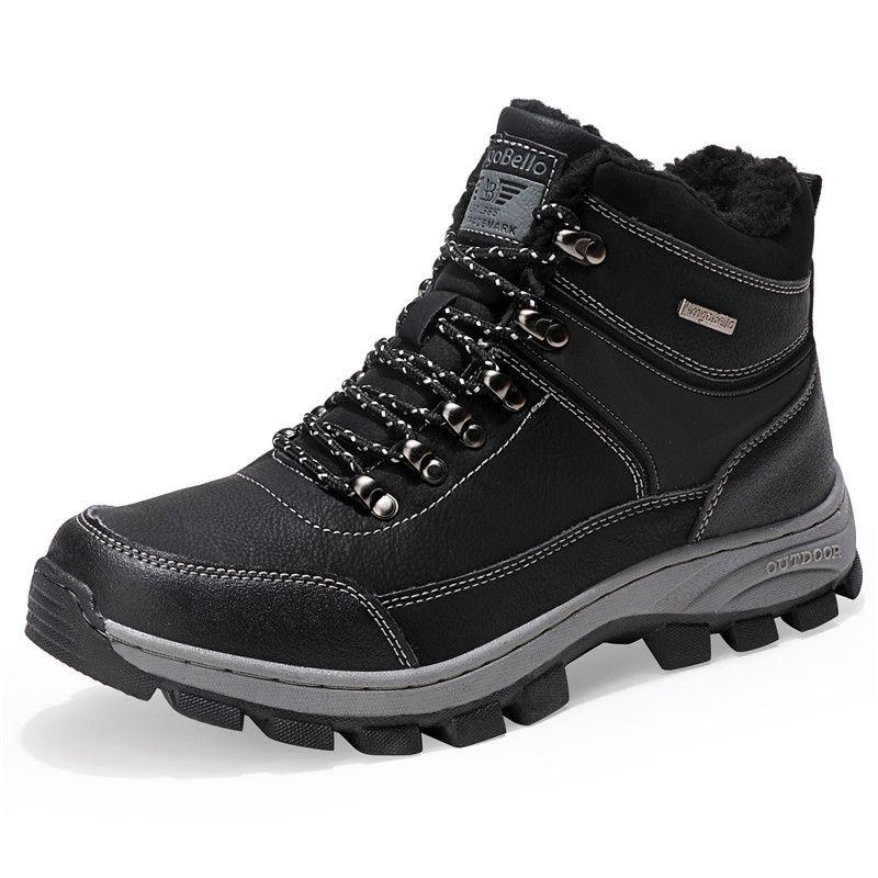 Compre Botas Para Hombre Invierno Con Piel 2018 Botas Para La Nieve Cálidas  Calzado Para Hombre En Invierno Zapatos De Moda Zapatos De Tobillo A   109.19 Del ... 365dbb7e677