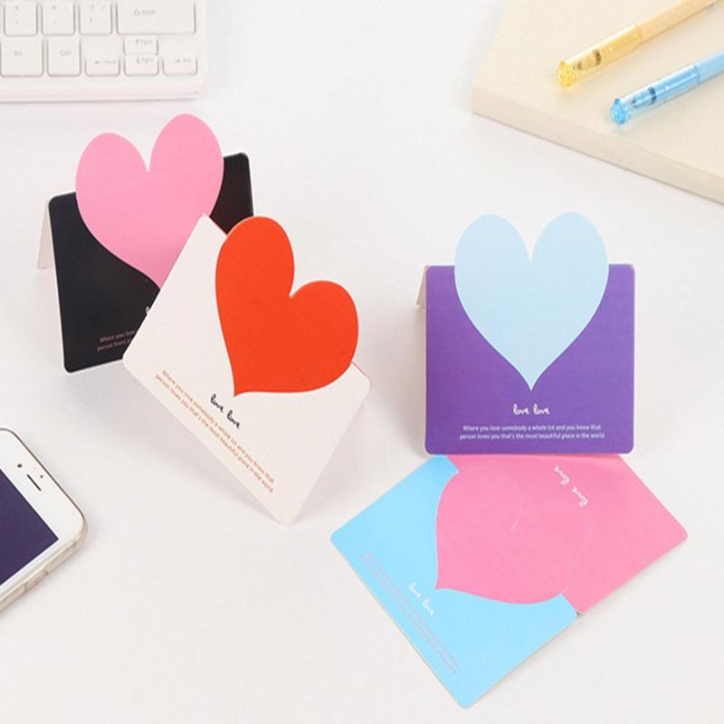5pcs Valentine's Day Hot Sale Creative Design Love Valentine's Day Greeting Small Greeting Card (Envelope + OPP Package)