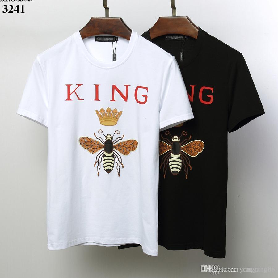 674c1bd5d3daa Compre Camiseta De DOLCE GABBANA Para Hombre De 19ss Diseñadores Camiseta  De Algodón TEE Camiseta De Manga Corta De Hip Hop Para El Verano A  29.85  Del ...