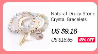 BOJIU Trendy Facetas Azul Crystal Charm Pulseras Para Las Mujeres de Moda Plata Hematita de Oro Bola de Cobre Pulsera Bola de Cristal BC267