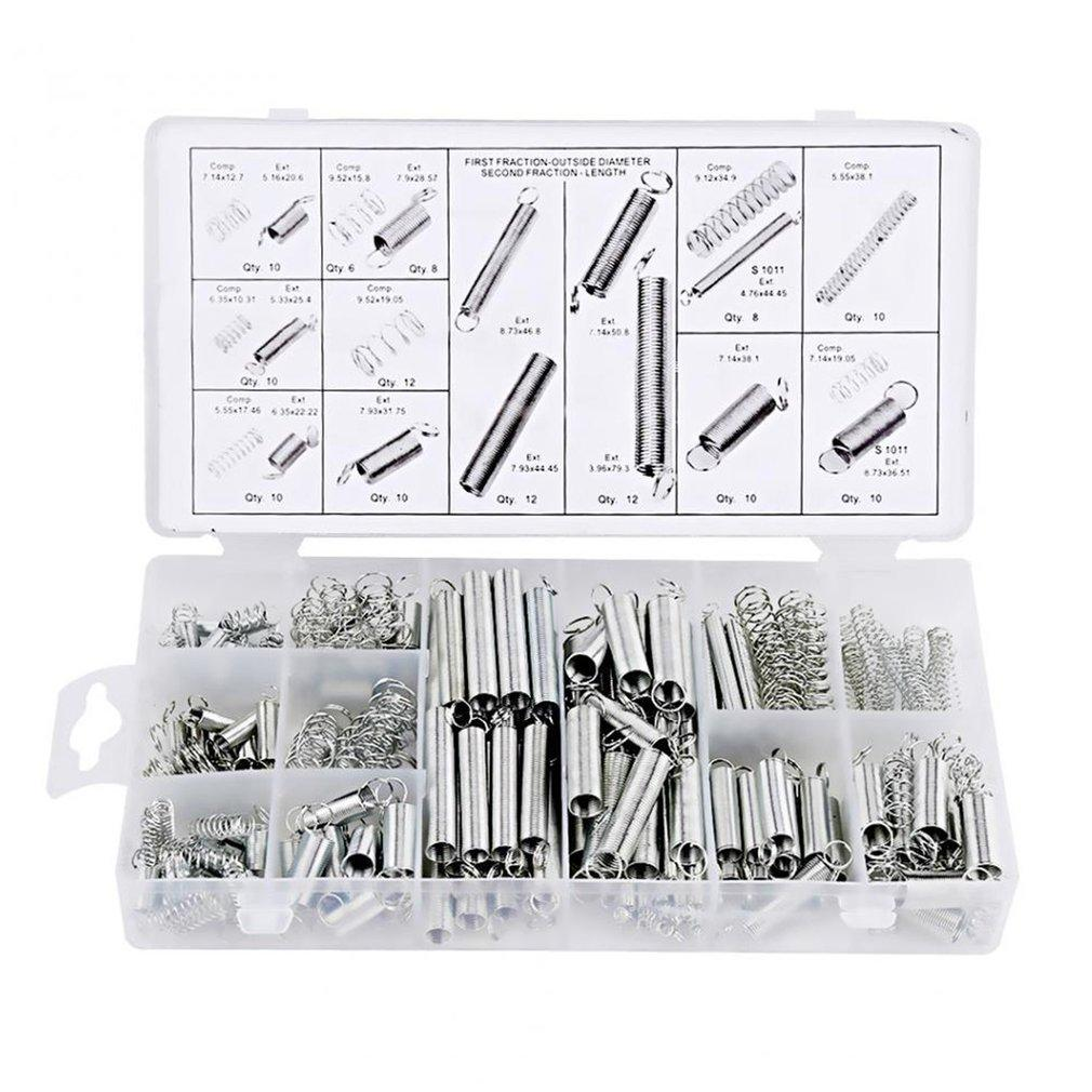 200Pcs/box Steel Spring Electrical Hardware Drum Extension Tension Pressure Springs Set Assortment Hardware Kit Assort