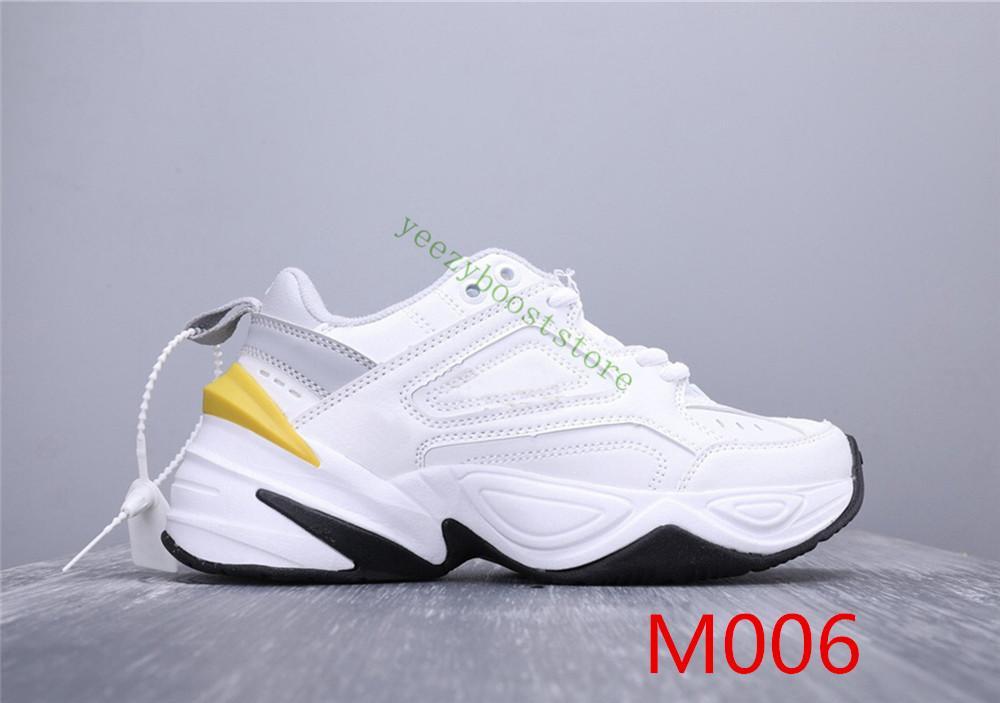 2019 أحذية NEW M2K تيكنو أبي الأزياء عالية الجودة النساء الرجال Zapatillas أسود أبيض أورانج عارضة الاحذية أحذية رياضية مع مربع