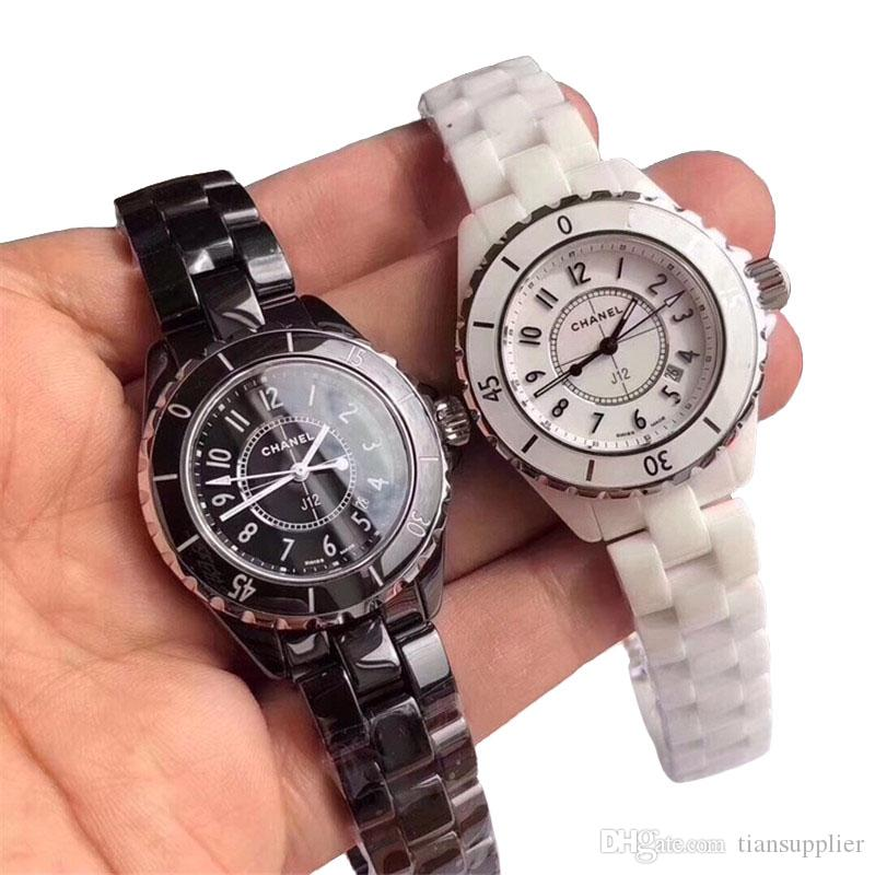 7ce76bed 2019 Hot Sale Luxury C J12 Women Mens Ceramics Watches High Quality Quartz  Movement For Lovers Casual Wristwatch With Gift Box