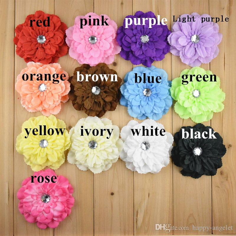 "Girl 4"" Peony Flower Hair Clip Baby Beautiful Flowers barrettes for Headbands Headwear Hair Accessories"
