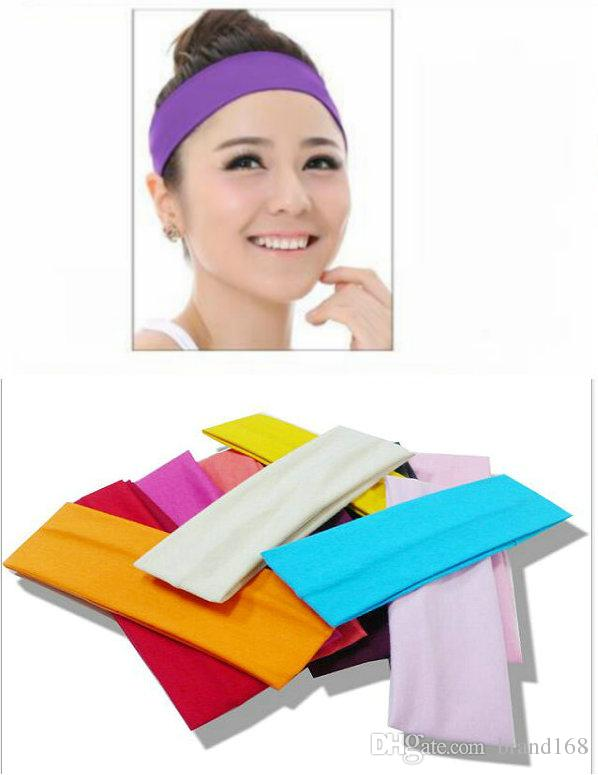 12pcs / lot Alta qualità Hipsy Cute Fashion No Slip Candy colorato sport yoga Hairband fasce per le donne ragazze adolescenti