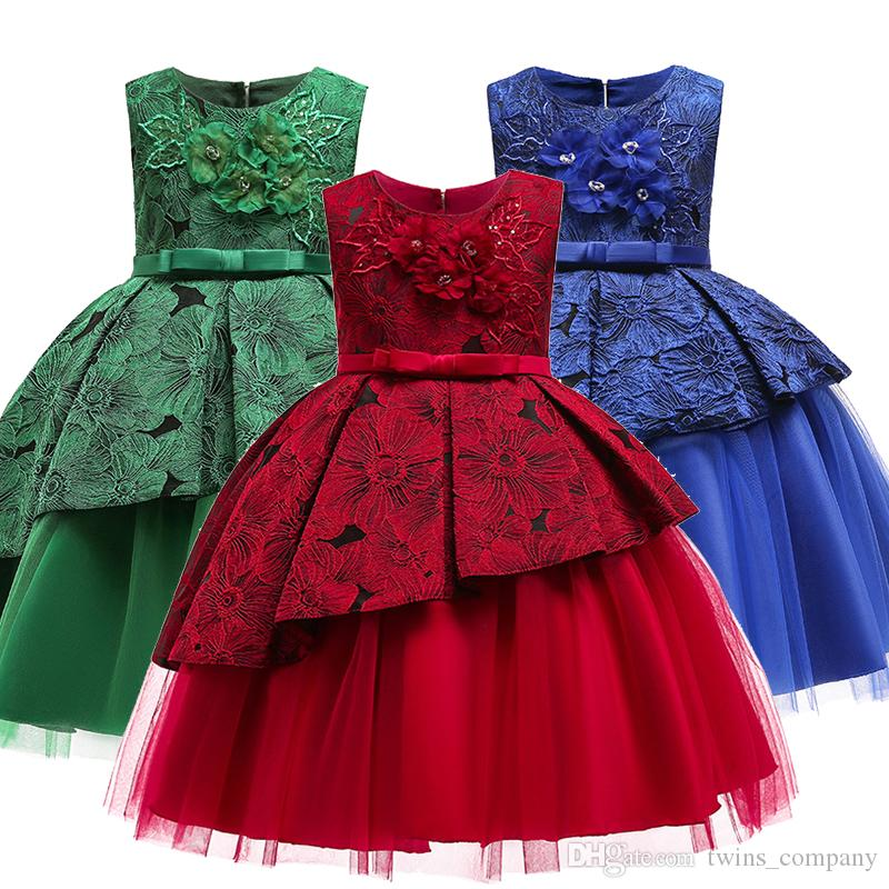 fcb2dbd98 2019 New Girl Dress Party Birthday Wedding Princess Toddler Baby Girls  Christmas Clothes Children Kids Girl Dresses From Twins_company, $14.07    DHgate.Com