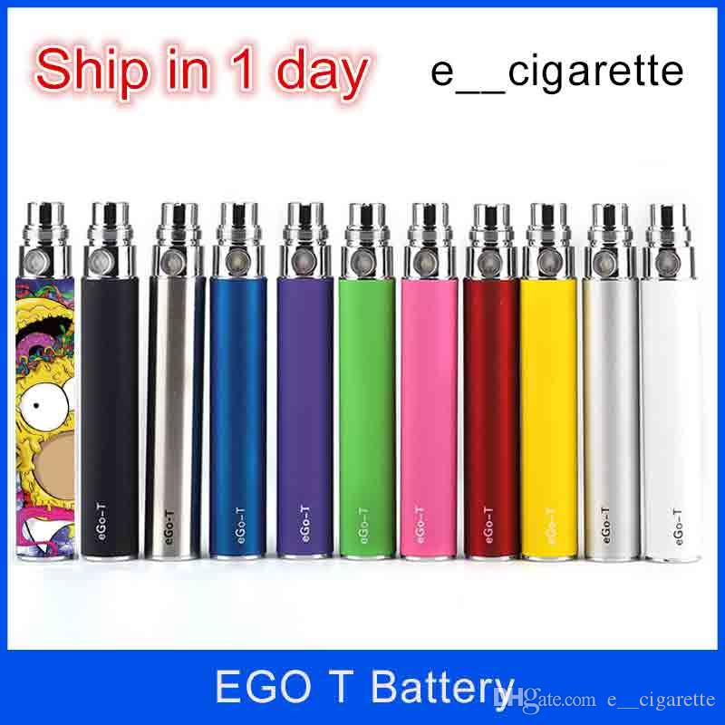 Electronic cigarettes Ego t Battery 650mah 900mah 1100mah for E Cigarettes E-cig Kit Free shipping DHL
