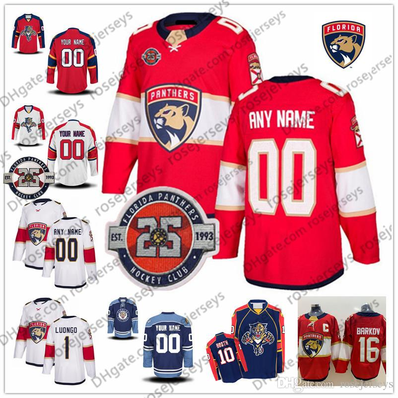 wholesale dealer a7523 b588a Florida Panthers 25th White Red Jersey #15 Riley Sheahan 68 Mike Hoffman 3  Keith Yandle 21 Vincent Trocheck 34 James Reimer Blue Vintage