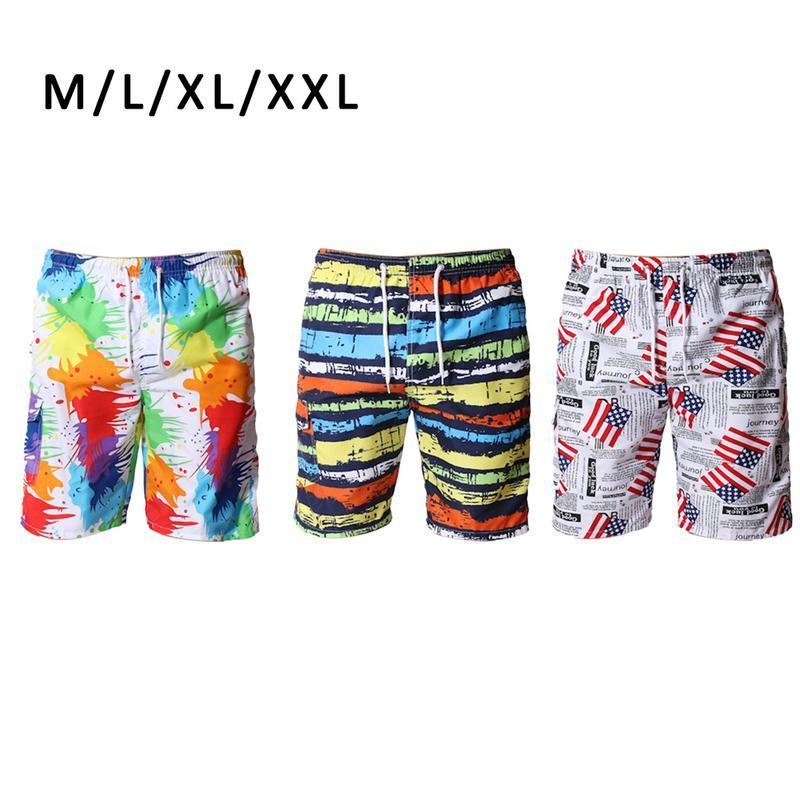 b5eb6e3533 Summer Men's Beach Pants Quick-drying Seaside Casual Camouflage Printed  Shorts Fashion Five Pants Trousers