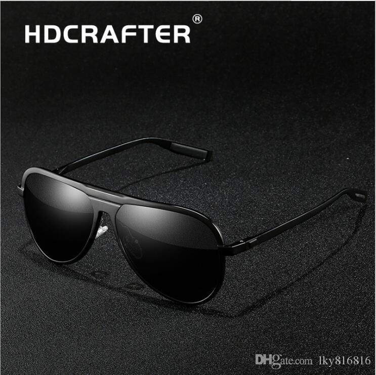 21ebd753bda HDCRAFTER New Design Men s HD Polarized Sunglasses Al Mg Alloy Anti-Glare  Driver Driving Goggles Ultraviolet-proof Sport Elegance Sunglasses Online  with ...