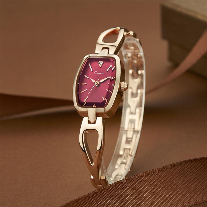 53d0fe36aa77 KIMIO Relojes Mujer Women Bracelet Watch Clock Luxury Rhinestone Quartz  Wristwatches Fashion Ultra Slim Ladies Dress Watches Y18110310 Buy Cheap  Watches ...
