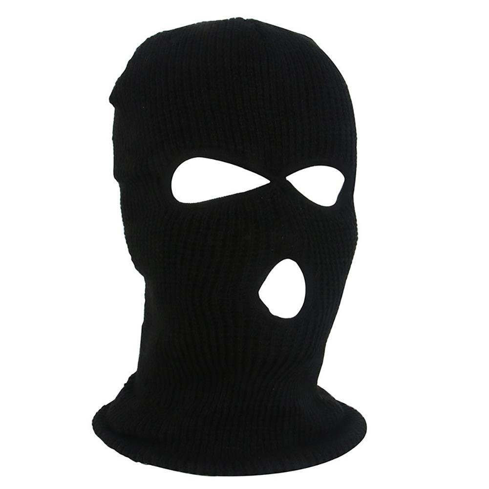 Army Tactical Winter Warm Ski Cycling 3 Hole Balaclava Hood Cap Full Face Mask